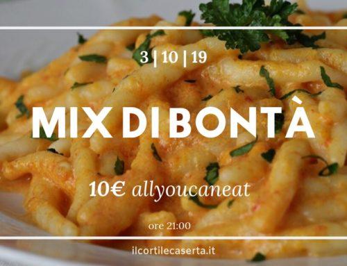 Giovedì 3 Ottobre ➡ ALLYOUCANEAT ➡ MIX DI BONTÀ!